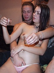 Lusty ladies learn to swallow students\\\\\\\' big dicks