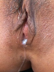 Tanned japanese babe Rio group creampie