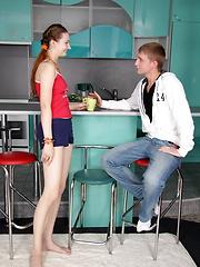 European teens couple fucking