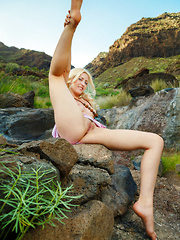 Janelle B flaunts her amazing body outdoors.