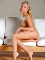 Natural beauty with perfect breasts and suckable labia.