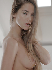 Stunning fashion model Silvie strips and shows you her amazing body