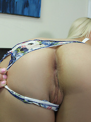 Stuck up blonde dancer gets a facial