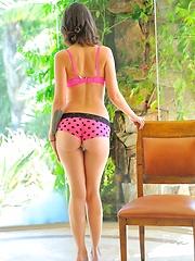 Gina Yellow on Pink