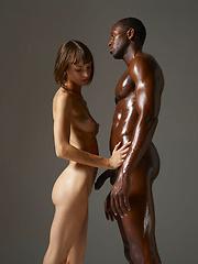 Oiled black guy