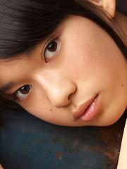 Tomoe Yamanaka Asian in stockings shows nasty behind at window