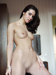 Aza\'s magnificent body with fair, porcelain skin, exquisite breasts with pink nipples. sexy hips, and shaved pusy