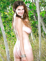 Marta E romps around naked in the forest