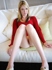Riley gets naughty on the couch