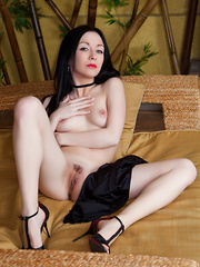 Seductive Night A flaunts her perky breasts and lickable pussy.