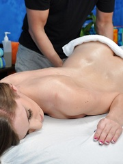Cassidy seduced and fucked hard by her massage therapist