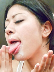 Konatsu Hinata sucks boners till gets her favorite cream, the cum